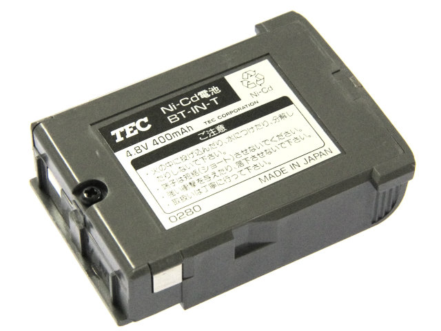 [BT-IN-T]TOSHIBA TEC Ni-Cd BT-IN-T 0280バッテリーセル交換