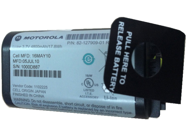 [P/N: 82-127909-01、1102225]Motorola Inventory scanner gun MC3190Gシリーズ他バッテリーセル交換